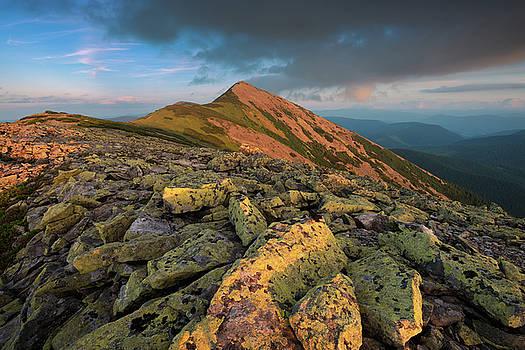 Mount Great Syvulya at the evening. Ukranian Carpathians by Sergey Ryzhkov