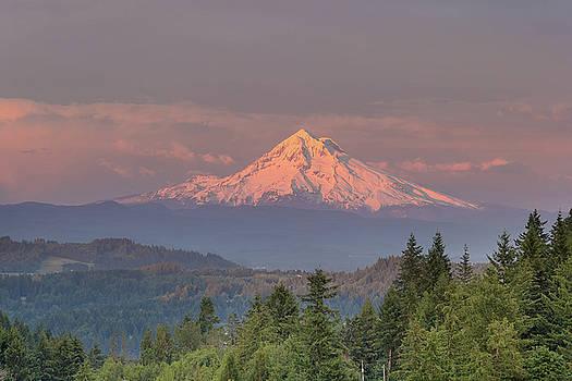 Mount Hood Alpenglow Sunset by Jit Lim