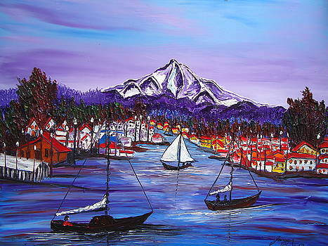 Mount Hood Over Looking Hayden Meadows by Portland Art Creations