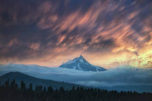 Mount Jefferson Sunset by Christian Heeb