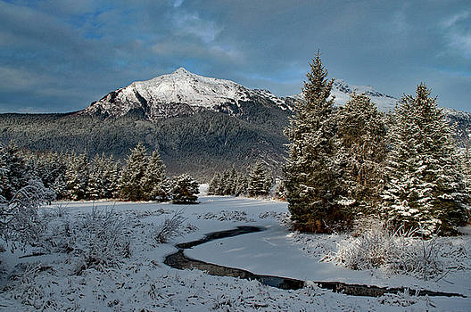 Mount McGinnis in Winter by Cathy Mahnke