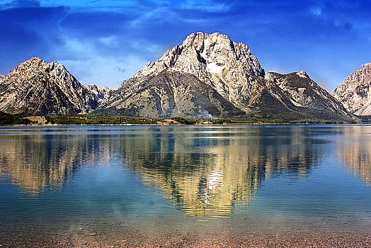 Mount Moran Across The Lake by Marty Koch