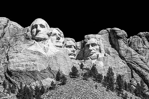 Mount Rushmore BW by Penny Meyers