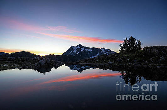 Mount Shuksan Arc of Fire by Mike Reid