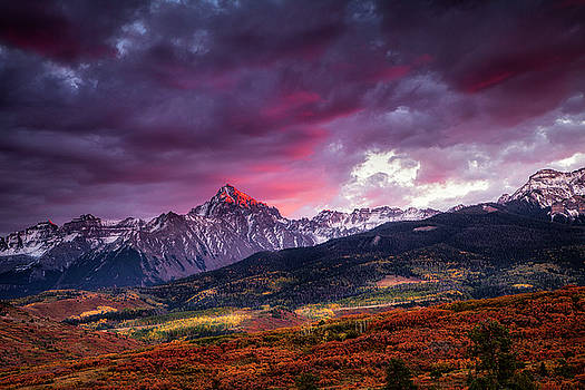 Mount Sneffels at Sunset by Andrew Soundarajan