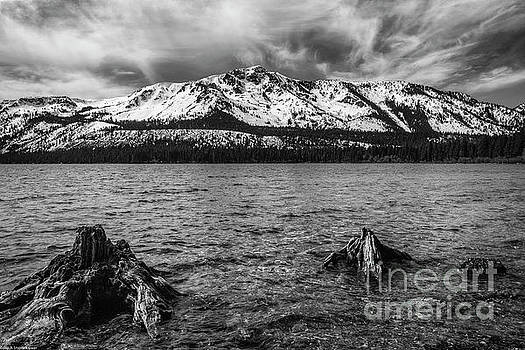 Mount Tallac Black And White by Mitch Shindelbower