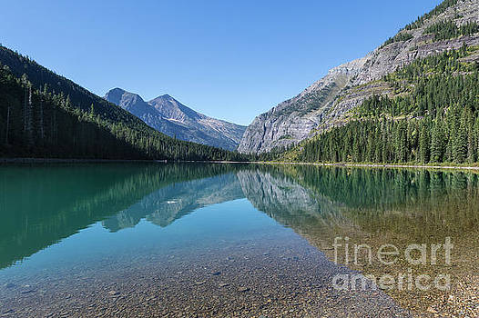 Mountain and Tree Reflections in Montana by Brandon Alms