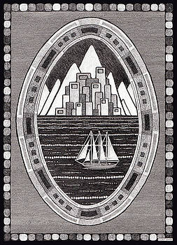 Mountain City Sailboat by Gregory Grant