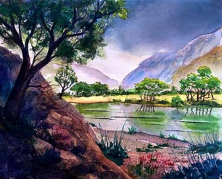 Mountain Lake Memories by Frank SantAgata