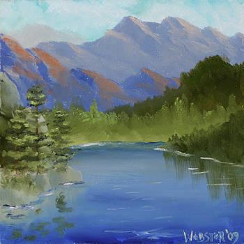 Mountain Landscape by Northern California Artist Mark Webster by Mark Webster