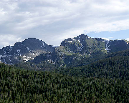 Mountain Peaks from Cameron Pass Colorado by D Winston