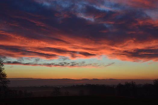 Mountain Road Sunrise 1 by Carlee Ojeda