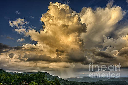 Mountain Shower and Storm Clouds by Thomas R Fletcher