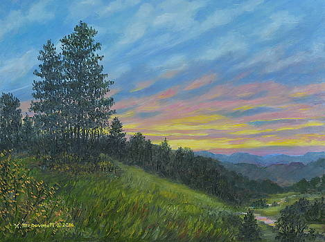 Mountain Sundown by Kathleen McDermott