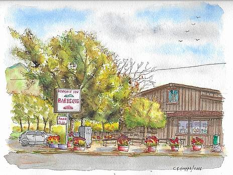 Mountain View Barbeque in Walker, California by Carlos G Groppa