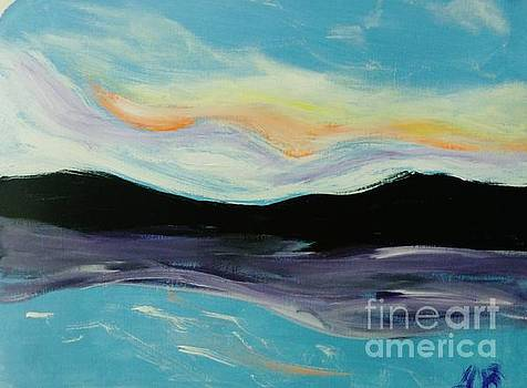 Mountains Clouds and Sea by Marie Bulger