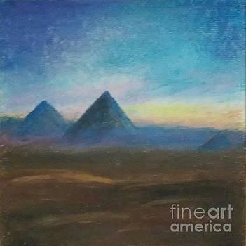 Mountains of the Desert I by Iris M Gross
