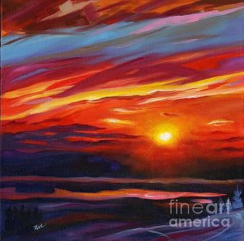 Mountaintop Sunset by Eve  Wheeler