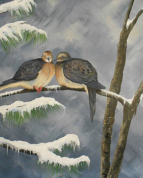 Mourning Doves by Christine StPierre