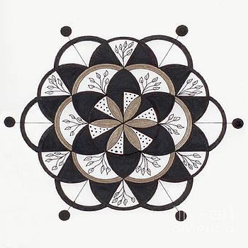 Moving On Mandala by Nancy TeWinkel Lauren