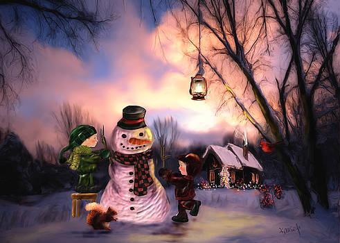 Mr. Frosty by Johanne Dauphinais