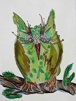 Mr.Lime Owl by Carrie  Godwin