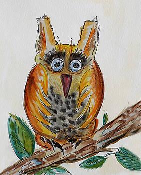 Mr.Orange Owl by Carrie  Godwin