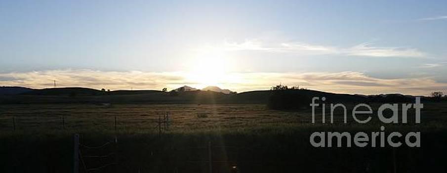 Mt. Diablo sunset by Brett Chambers