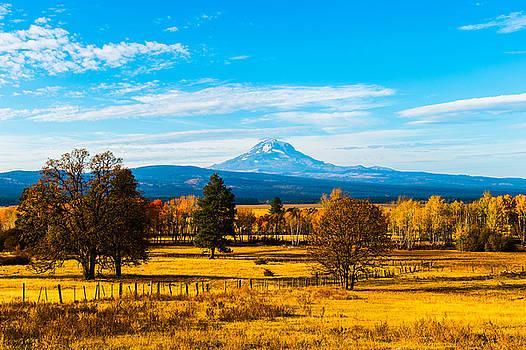 Mt.Adams in Fall color by Hisao Mogi