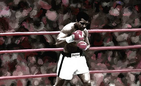 Muhammad Ali Painting Art Signed Prints available at laartwork.com Coupon Code KODAK by Leon Jimenez