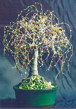 Multi Color Oak - Wire Tree Sculpture by Sal Villano