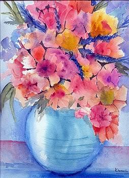 Multiflora in Turquoise Vase by Harold Kimmel