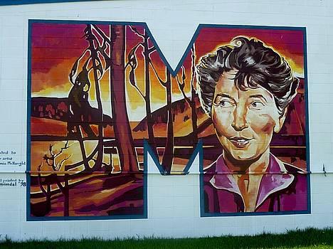 Mural 12x120 feet detail Euphemia McNaught Midwest by Tim  Heimdal