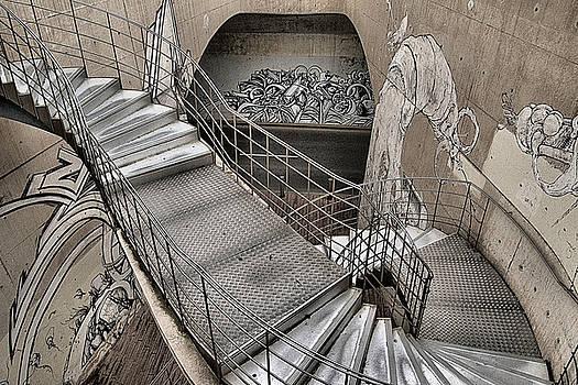 Mural and Stairs, Cartagena, Spain, 2016  by Wayne Higgs