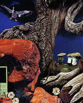 Mushroom People - collage by Linda Apple