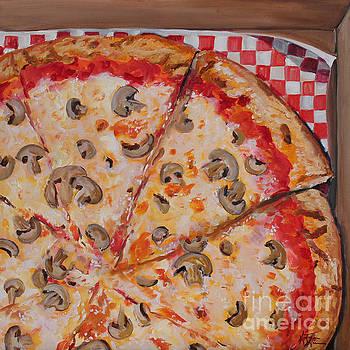 Mushroom Pizza by Kristine Kainer
