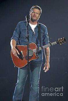 Musician Blake Shelton  by Concert Photos