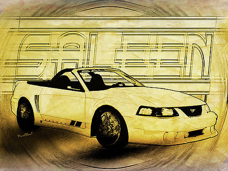 Mustang Saleen Convertible Automotive Art by Chas Sinklier