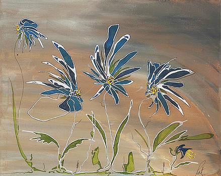 My Blue Garden by Pat Purdy