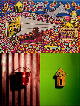My Last Bongo Painting with Diptych by Paul Knotter