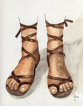 My leather sandals by Annemeet Hasidi- van der Leij