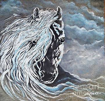 My White Dream Horse by AmaS Art