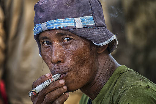 Myanmar Smoker by David Longstreath