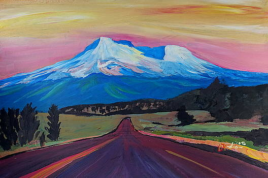 Mystical Mt Shasta   White Mountain In Cascades Range California by M Bleichner