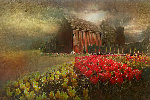 Mythical tulip farm by Jeff Burgess