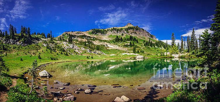 Naches Peak and Lake by Joan McCool