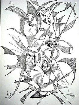 Naked women sat by Paul Bonnie Kent