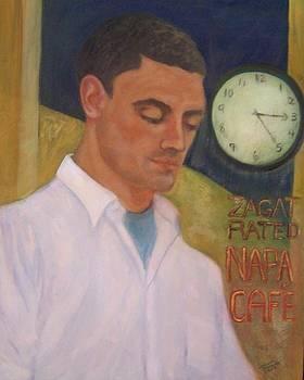 Napa waiter by Suzanne Reynolds