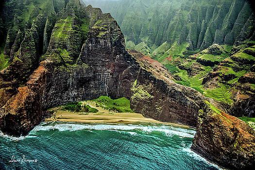 Napali Coast Kauai by David Simpson