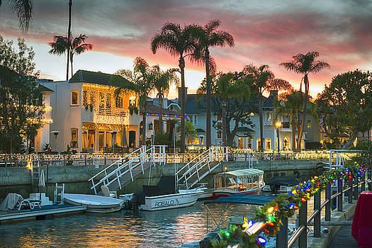 David Zanzinger - Naples Canal Christmas Sunset